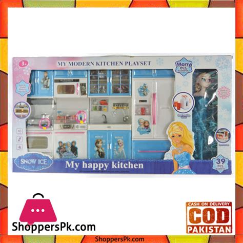 Mainan Kitchen Set Frozen With Doll buy princess frozen happy kitchen set with frozen doll elsa 39 pcs at best price in pakistan
