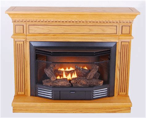 Kozy World Fireplace by Kozy World Carlton Dual Fuel Gas Fireplace With Oak Mantel
