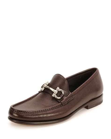 loafers ferragamo ferragamo gancini bit leather loafer in brown lyst
