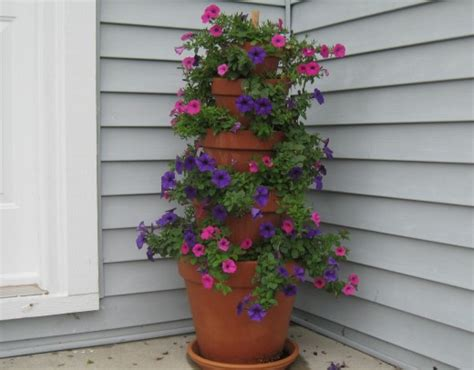 flower tower planter how to make a terracotta pot flower tower with annuals