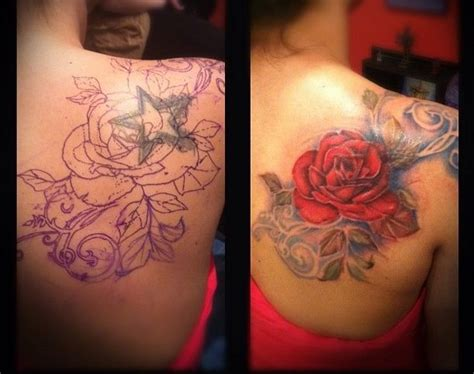 rose tattoo cover up ideas 38 best images about cover up on see