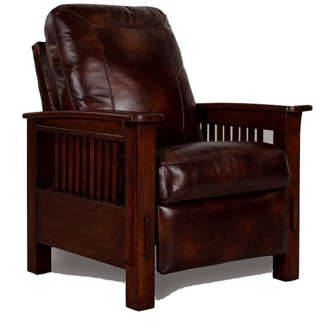 mission style recliner leather living room furniture mission furniture craftsman
