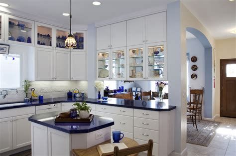 blue kitchen decor ideas wonderful cobalt blue glass kitchen canisters decorating