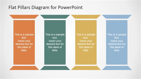 Flat Pillars Diagram For Powerpoint Slidemodel Strategic Pillars Template
