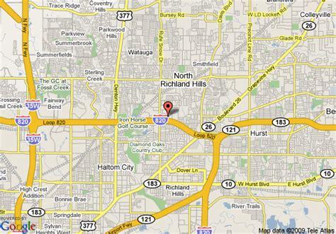 richland texas map map of comfort inn richland
