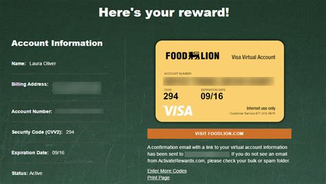 Turn Visa Gift Card To Amazon - how to use your food lion school of chions visa credits