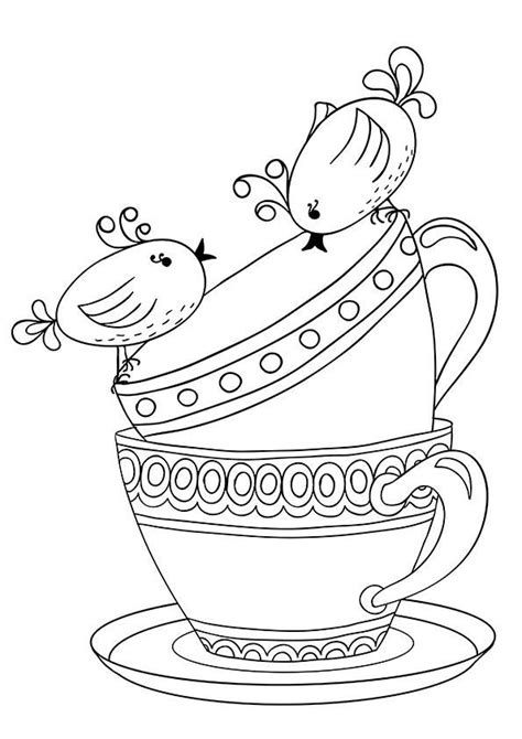 776 Best Images About Adult Coloring Pages On Pinterest Free Printable Tea Cup Coloring Pages