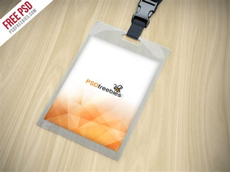 Name Tag Template Psd by Identity Card Holder Mockup Free Psd Psd