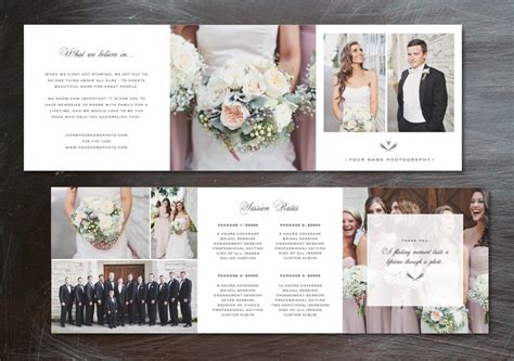template trifold pricing guide brochure templates