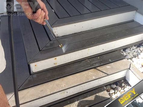clean  seal composite decking defy wood stain