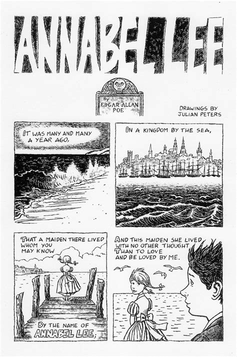 annabel lee by edgar allan poe a comic book adaptation of edgar allan poe s poignant poem