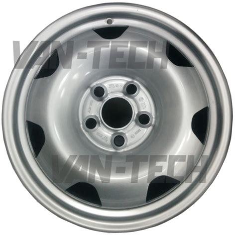 volkswagen van wheels alcar 9215 silver 17 quot steel wheels vw transporter t5 van