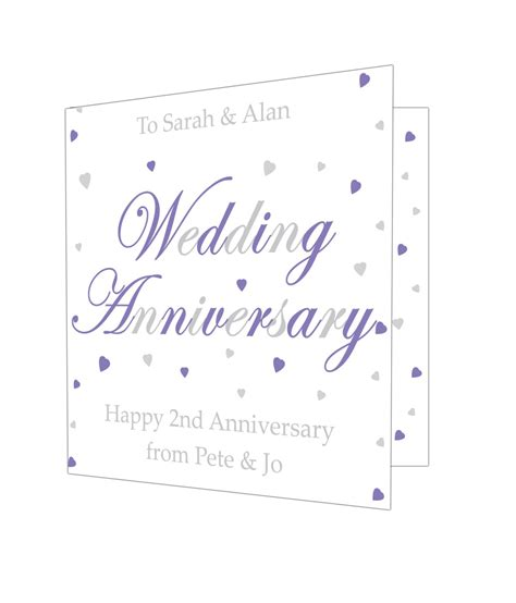 Anniversary Gift Cards - personalised wedding anniversary card just for gifts