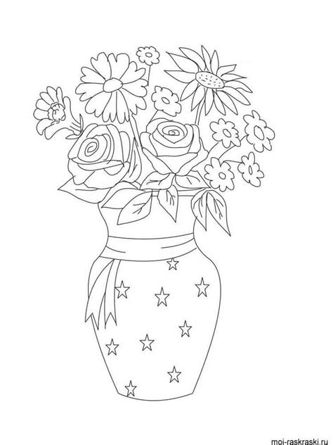 coloring page of vase vase coloring pages download and print vase coloring pages