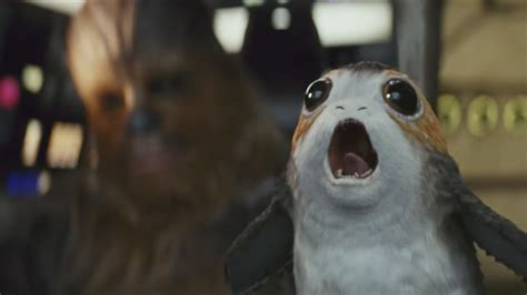 wars the last jedi chewie and the porgs books a new wars for the big kids and porgs for the