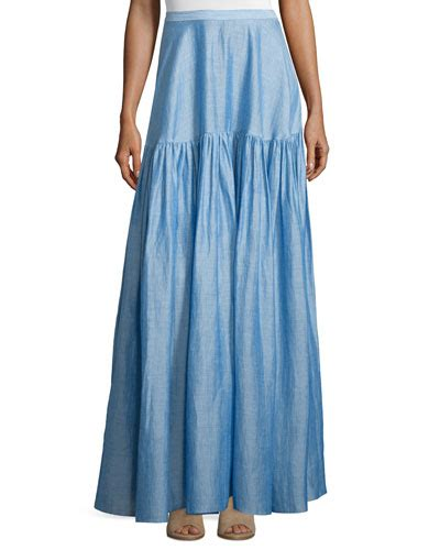 Ciara Maxi Selendang Mk 289 maxi skirt neiman