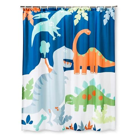 Bold Shower Curtains by Circo Dino Shower Curtain True White Bold Yel Target