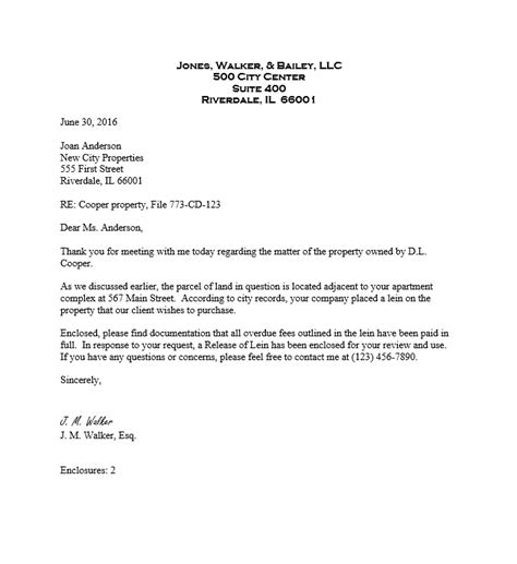 create legal business letter