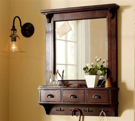 entryway mirror wall mount entryway organizer mirror traditional