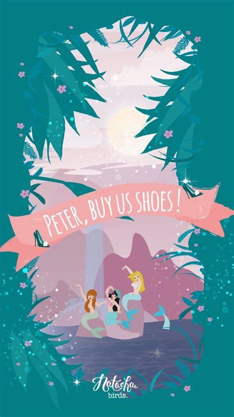 iphone themes disney peter pan mermaid shoes iphone wallpaper disney iphone
