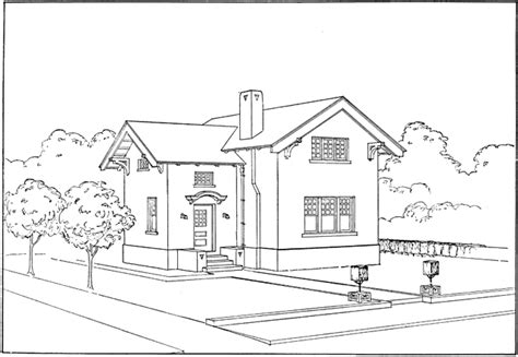 home drawing ruled outline of house clipart etc