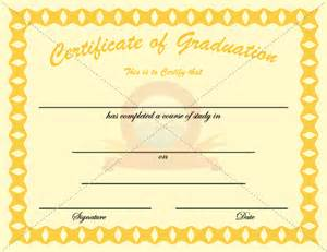 graduation certificate golden template graduation