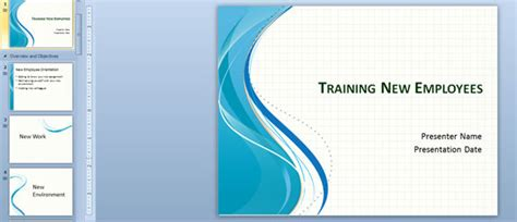 latest themes for powerpoint presentation training new employees powerpoint template