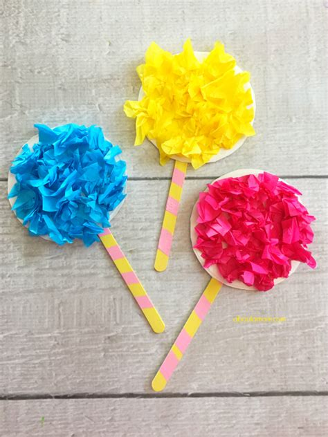 How To Make Truffula Trees Out Of Tissue Paper - truffula trees craft inspired by the lorax about a