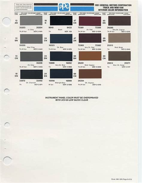 gm auto color chips color chip selection auto paint