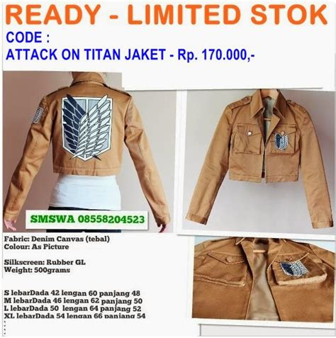 Jaket Attack On Titan 01 1 jaket shingeki no kyojin attack on titan