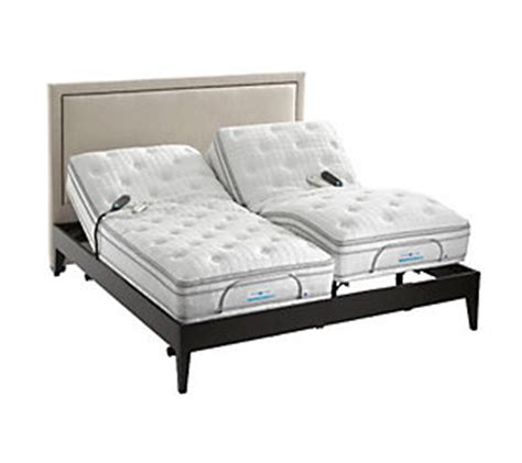 sleep number king bed sleep number pearl split king bed with adj base