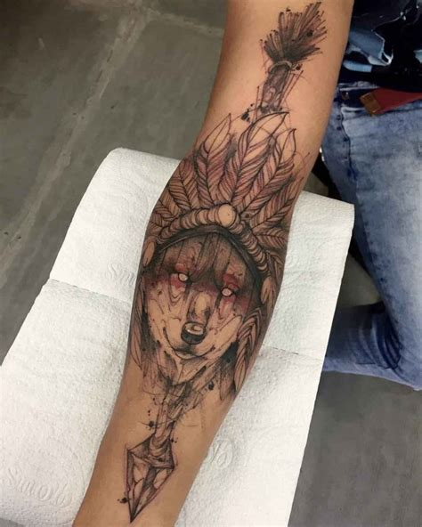 native american wolf tattoo wolf best ideas gallery