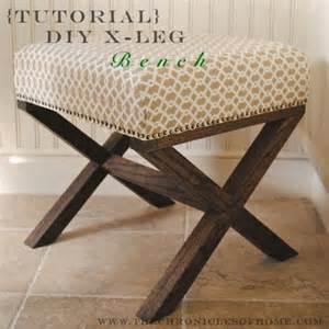 Upholstered X Bench Ottoman How To Make An X Leg Ottoman 187 Curbly Diy Design Decor
