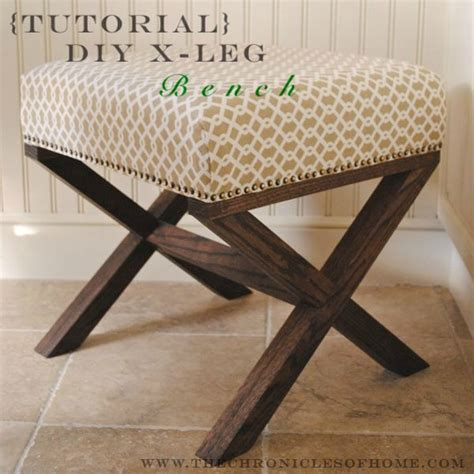 diy x leg bench how to make an x leg ottoman 187 curbly diy design decor