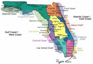 a map that explains all the coasts nicknames floridas