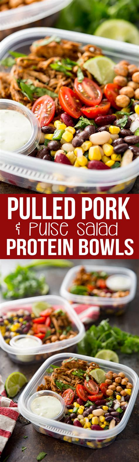 protein bowl pulled pork pulse protein bowl eazy peazy mealz