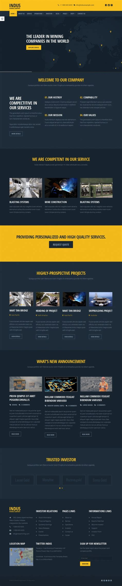 themeforest industrial themeforest indus industrial html responsive templates rip