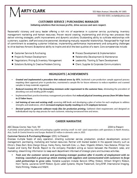 Resume Headline Exles For Customer Service Customer Service Manager Resume Exle