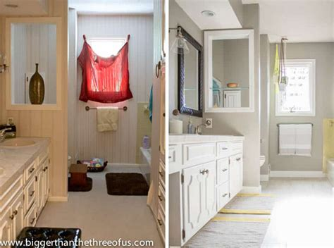 diy bathroom remodel before and after home design