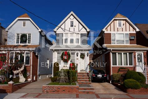 best christmas home decorations in brooklyn houses with decorations new blue stock photos freeimages