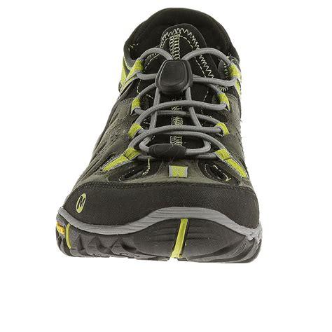 merrell hiking sandals merrell all out blaze sieve mens green hiking walking