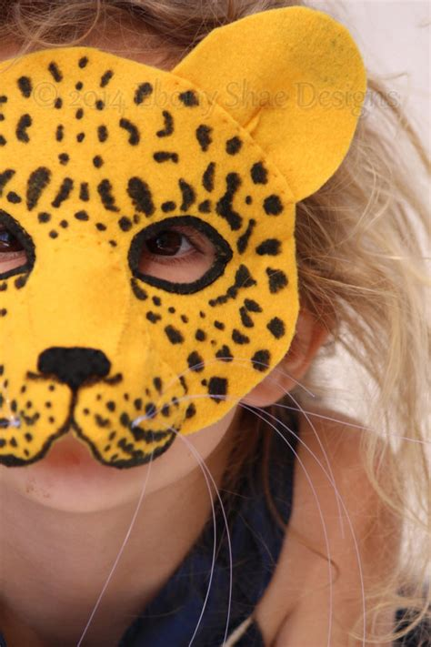 How To Make A Paper Cheetah - leopard mask pattern leopard costume sewing pattern