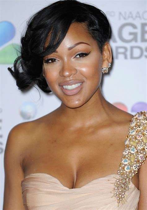 meagan good inspired hairstyle on short natural hair pictures trendy celebrity haircuts and hair color ideas