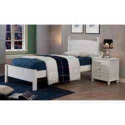 Kids bed anderson white finish twin bed detode
