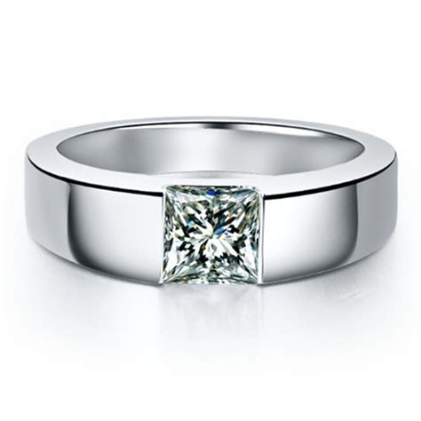sterling silver 1ct princess cut s