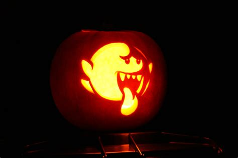 boo template pumpkin boo from mario pumpkin 27 geeky pumpkins to