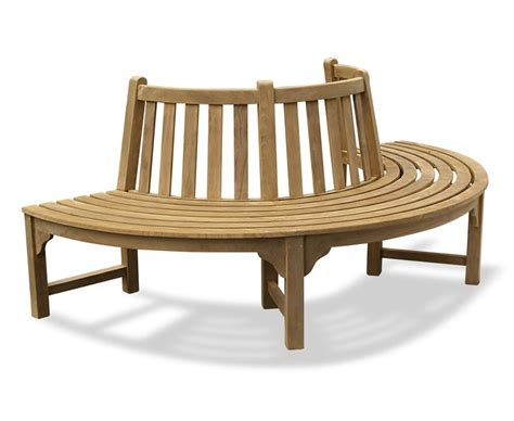 round benches seating teak circular half tree seat