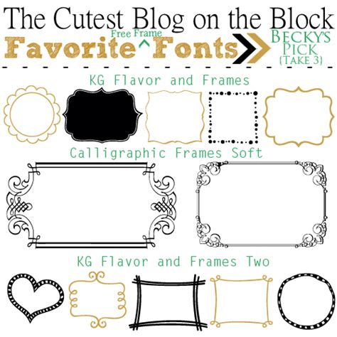 free doodle frame font free frame fonts free digital frames the cutest