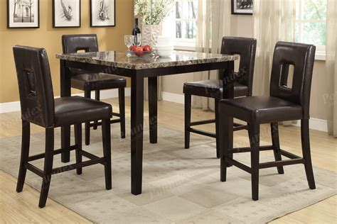 high dining room table sets dark brown 5 pc dining set counter height dining table