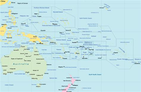 map of oceania political map pacific islands
